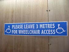 1 SelfAdhesive 'please leave a 3 metre gap' carsign
