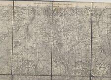 cartina alpina - chatillon   - 1:50.000 - in tessuto telato -