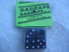 DICE RADKAPS NOS 80s BMX VALVE CAPS COVERS CRUISER FREESTYLE RACING VINTAGE