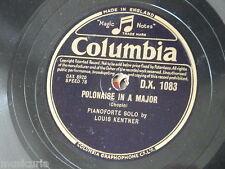 """78rpm 12"""" LOUIS KENTNER chopin polonaise / c min etude op.10/12 dx.1083"""