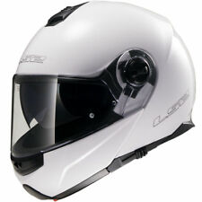 LS2 FF325 Strobe DVS Flip Front UP Motorbike Motorcycle Crash Helmet Gloss White