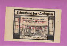 LEIPZIG-PLAGWITZ, Werbung 1920, Gustav Lehmann Schaufenster-Anlagen
