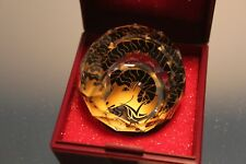 Swarovski Crystal Cal Round Ball Paperweight 40mm Zodiac Aries Mint in Box