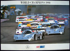 MERCEDES BENZ WORLD CHAMPIONS OFFICIAL SHOWROOM POSTER 1990