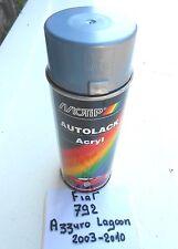BOMBE PEINTURE FIAT LANCIA AZZURRO LAGOON MET 792.MOTIP 400 ml