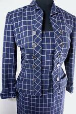 VTG 40s 50s ~ High End Skirt Suit ~ ANNA MILLER ~ Unique Button Design Detail ~S