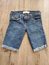 Abercrombie & Fitch Kids Girls jean Shorts Denim Size 10 longer length bermuda