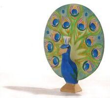 Ostheimer 11841 Pfau mit Rad blau-grün aus Holz NEU vom Fachhändler Rarität