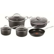 Tefal Jamie Oliver 5pc Set Non-stick Induction Hard Anodised Pot/Pan/Frypan