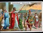 IMAGE CHROMO CHOCOLAT POULAIN / ROME ANTIQUE / ANCUS MARCIUS reçoit TARQUINIUS