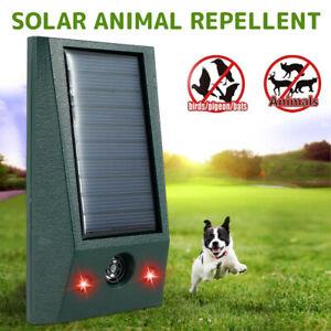 Solar Power Cat Repellent Scarer Deterrent Ultra Sonic Dog Fox Cat Pest Animal :