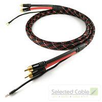 Phonokabel 1m Cinchkabel 2x0,35mm² mit Erdung Geflechtschlauch rot SC81-K3-V-Red