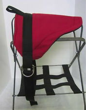 MINI HORSE/SM PONY BAREBACK SADDLE  PAD - RED