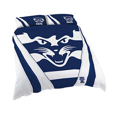 Geelong Cats Afl King Bed Quilt Doona Duvet Cover Set *New 2019* Christmas Gift