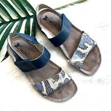 Mephisto Sandals 36 Snakeprint Leather Straps Footbed Shoes Comfort Sport US 6
