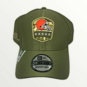 Cleveland Browns New Era Olive Salute to Service Sideline 39THIRTY Flex Hat New