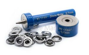 7mm Grommets eyelets marine grade stainless steel rolled rim heavy duty tools