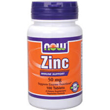 Zinc 100 Tabs 50 mg by Now Foods