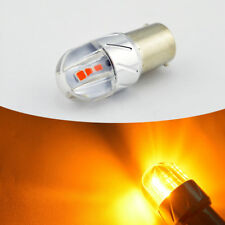 2PCS ba15s led bulb Amber AC 12V 24V Car Turn reverse led lights 3030 6SMD 800LM