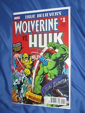 WOLVERINE VS HULK #1 DF Dynamic Forces Variant SIGNED John Romita Sr #26/30 (181