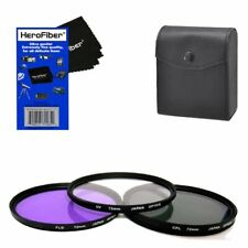 72mm Multi-Coated professional 3 Piece Lens Filter Kit (UV-CPL-FLD) For The