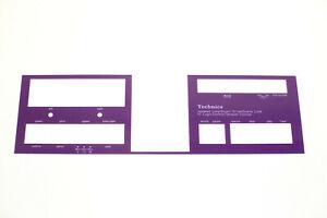 Purple Technics Lower Face Front Inserts for Technics Tape Deck Fits 1500 1506