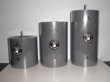 Engels Kerzen Stumpen Kerze gegossen/durchgefärbt 80/80 col.100 schiefer NEU