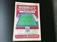 BURNLEY  V SUNDERLAND 1954/55