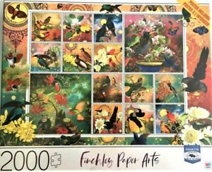 """Finchley Paper Arts MB """"BIRDS OF ASIA"""" 2000 Piece Jigsaw Puzzle"""