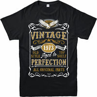 Made in 1973 Vintage T-Shirt, Born 1973 Birthday Age Year Gift Top