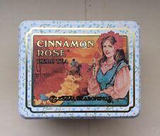 1983 BEAUTIFUL VINTAGE CELESTIAL SEASONINGS CINNAMON ROSE HERB TEA TIN BOX