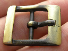 "Bridle Center Bar Buckle for  5/8"" or 16 mm wide leather antique bronze finish"
