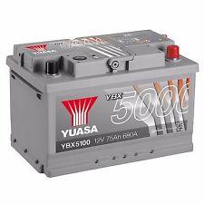 Yuasa YBX5100 12V Silver 100 Series Car Battery 75Ah 680A