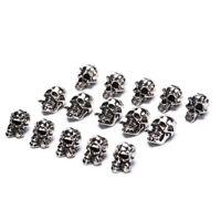5Pcs / Lot Paracord Perlen Metallschädel für Paracord Armband Zubehör GTN qcXUI