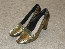 Looks New Womens adiPRENE by adidas Rockport Shoes Sz 8 Gold Pumps Shoes
