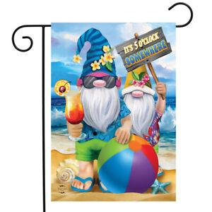 "Summer Gnomes Humor Garden Flag Beach Scene 12.5"" x 18"" Briarwood Lane"