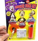 Smoker Joke Prank GaG Joke Set - Cigarette Burn-Snapping Matches-Squirt Lighter