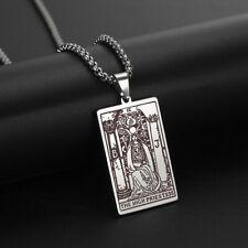Collar de tarjeta de Tarot wicaa los principales Arcana Rider-Waite Amuleto Unisex Joyas