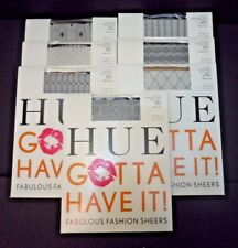 HUE Gotta Have It Control Top Sheer Patterned Tights Size 1 Choose Color Style