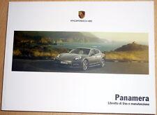 Porsche PANAMERA,libretto di uso e manutenzione,anno 2011.