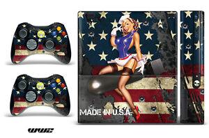 Skin Decal Wrap for Xbox 360 E Gaming Console & Controller Sticker Design WW2