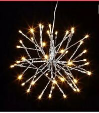 "10"" Lighted Silver STARBURST 3837079 RAZ Imports Lights Christmas NEW FaBuLouS!"