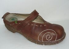 EL NATURALISTA Brown Leather Mary Janes Mules Women's Sz 9.5-10/40