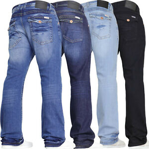 Mens Stretch Bootcut Jeans Wide Leg Flared Denim Pants **Limited Time Offer**