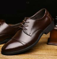 Men Dress Formal Business Casual Shoes Pointed Toe Lace Up Patent Leather Zsell