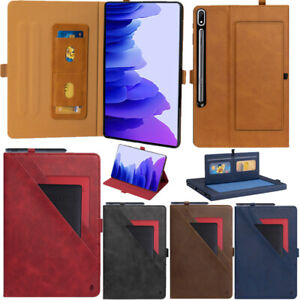 Luxury Leather Smart Stand Case Cover For Samsung Galaxy Tab S7/S7 Lite/S7 Plus