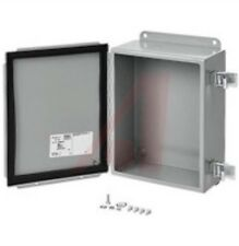 Hoffman A1614CHQR J Box, NEMA 12, Hinged Cover, Quick Release, Steel