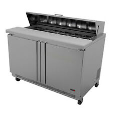 "Fagor Fst-48-12 48"" Sandwich/Salad Top Refrigerated Counter with 12 Top Pans"