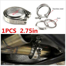 1pcs Car 2.75in V Band Flange Exhaust Clamp Kit Stainless Steel Universal Silver