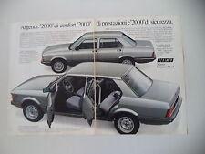 advertising Pubblicità 1982 FIAT ARGENTA 2000